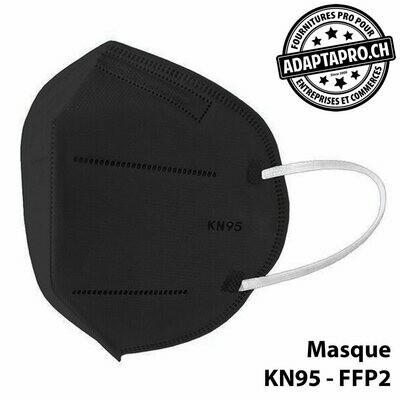 Masques de protection - KN95 FFP2 certifié CE (norme EN 149-2001 + A1-2009) - 10 pièces - Noir