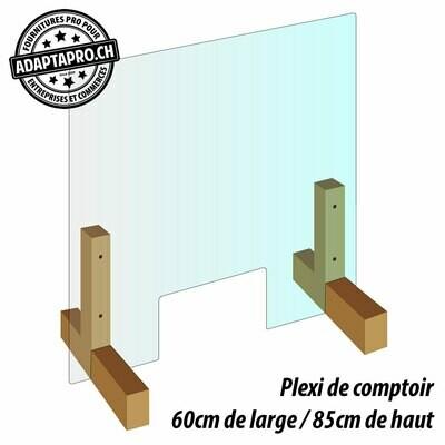 Protection de comptoir - Plexiglas -  60cm de large / 85cm de haut