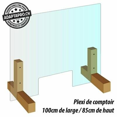 Protection de comptoir - Plexiglas - 100cm de large / 85cm de haut