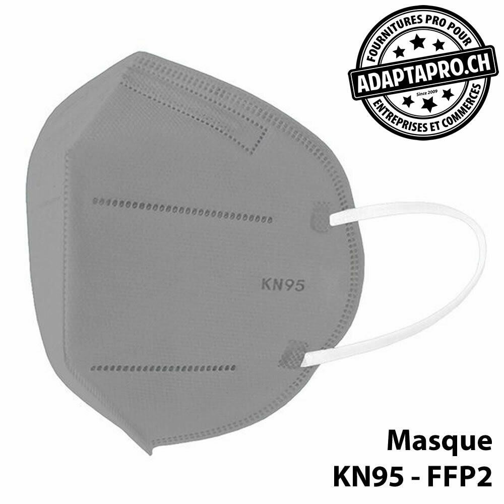 Masques de protection - KN95 FFP2 certifié CE (norme EN 149-2001 + A1-2009) - 10 pièces - Gris