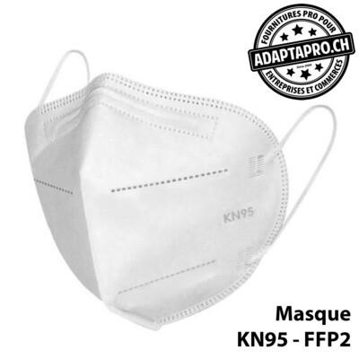 Masques de protection - KN95 FFP2 certifié CE (norme EN 149-2001 + A1-2009) - 10 pièces - Blanc