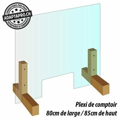 Protection de comptoir - Plexiglas -  80cm de large / 85cm de haut
