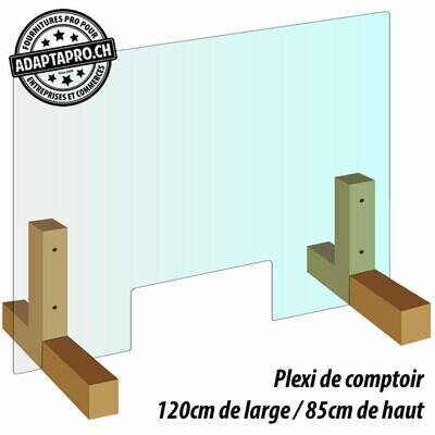 Protection de comptoir - Plexiglas - 120cm de large / 85cm de haut