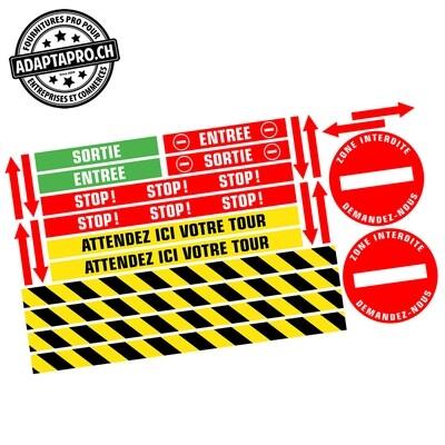 Affichage au sol - Vinyle anti-dérapant - MOQUETTE - 130x70cm - Pack multiple