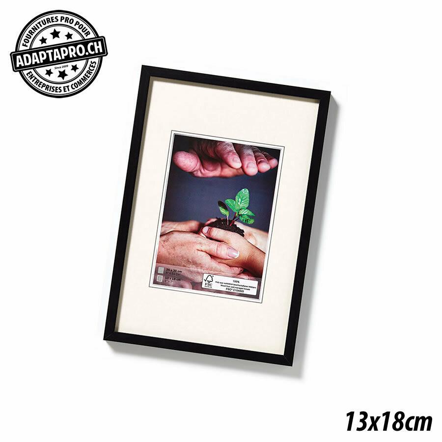 Cadre Photo en Bois - Nature - 13x18cm - Noir