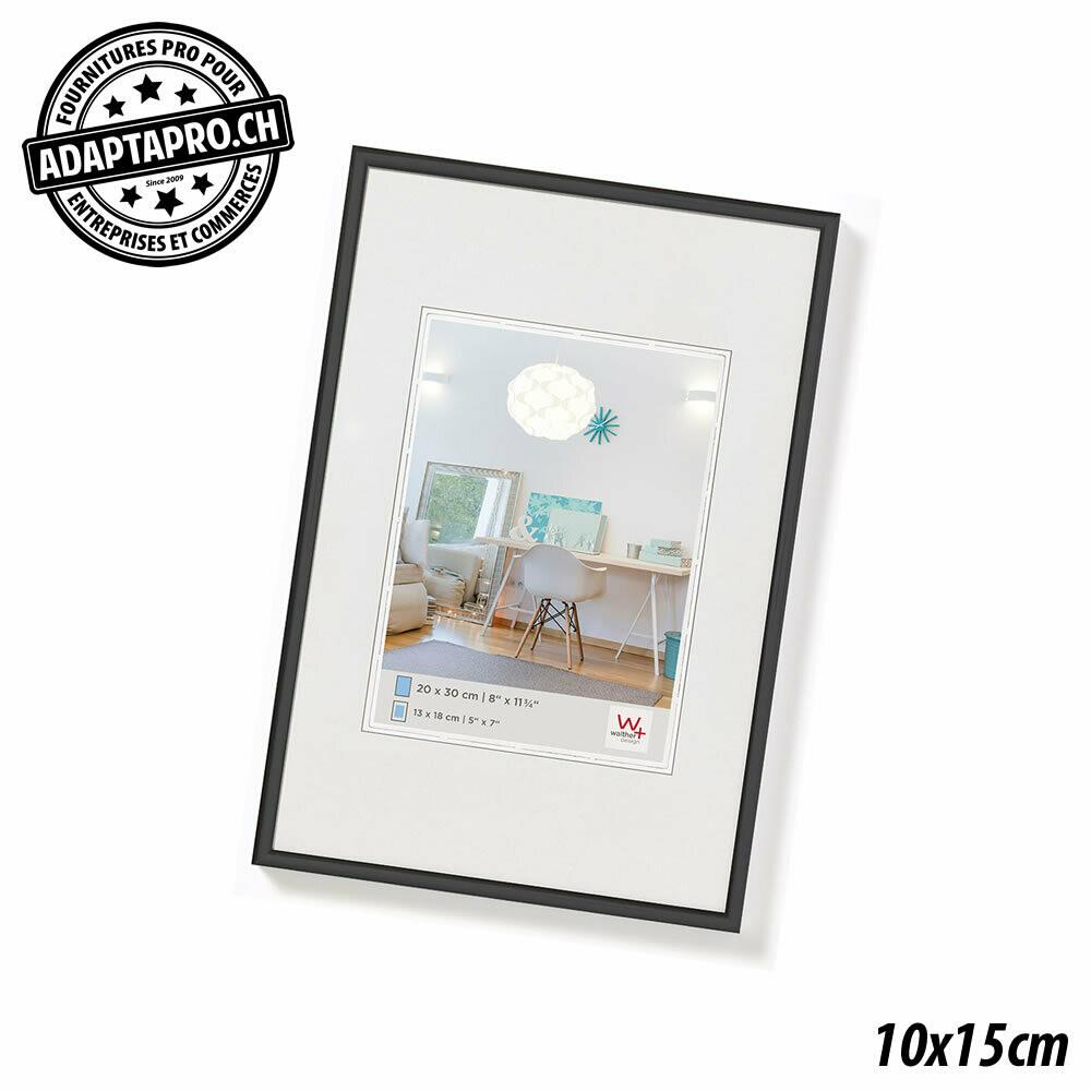 Cadre Photo Plastique - LifeStyle - 10x15cm - Noir