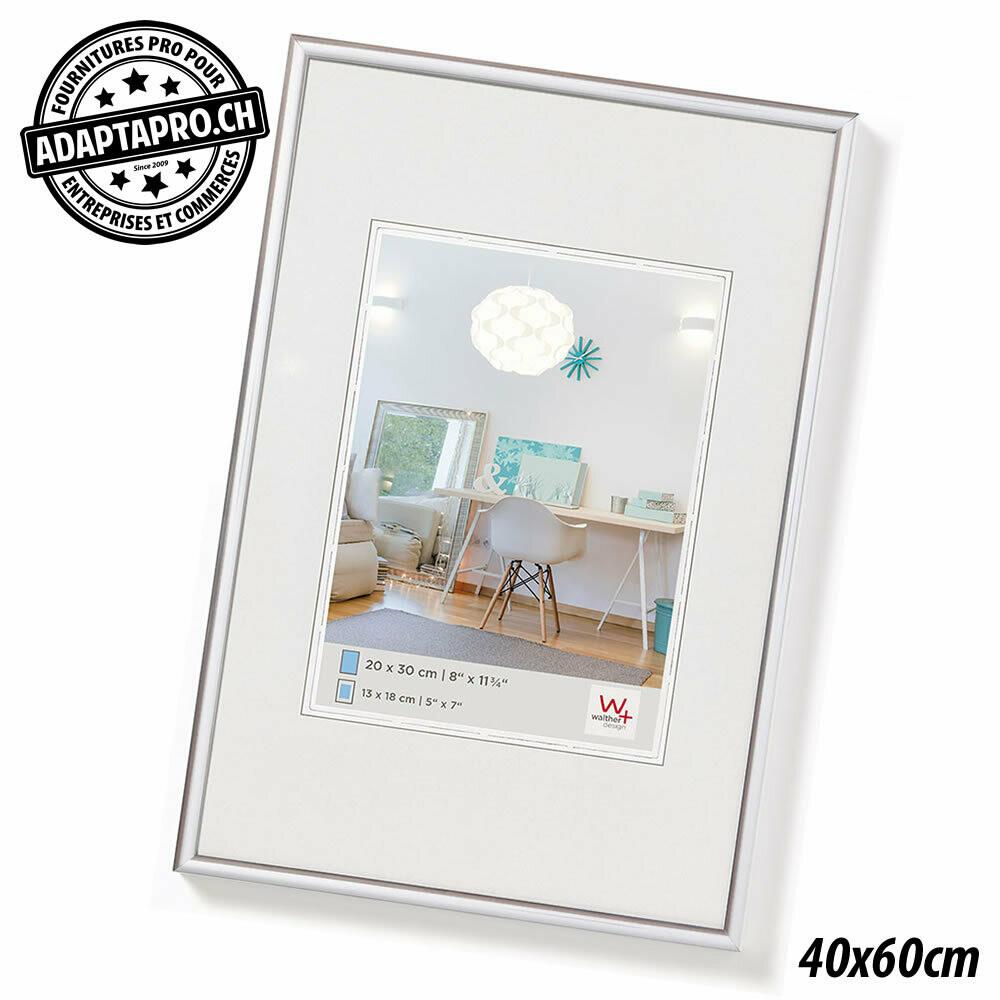 Cadre Photo Plastique - LifeStyle - 40x60cm - Argenté
