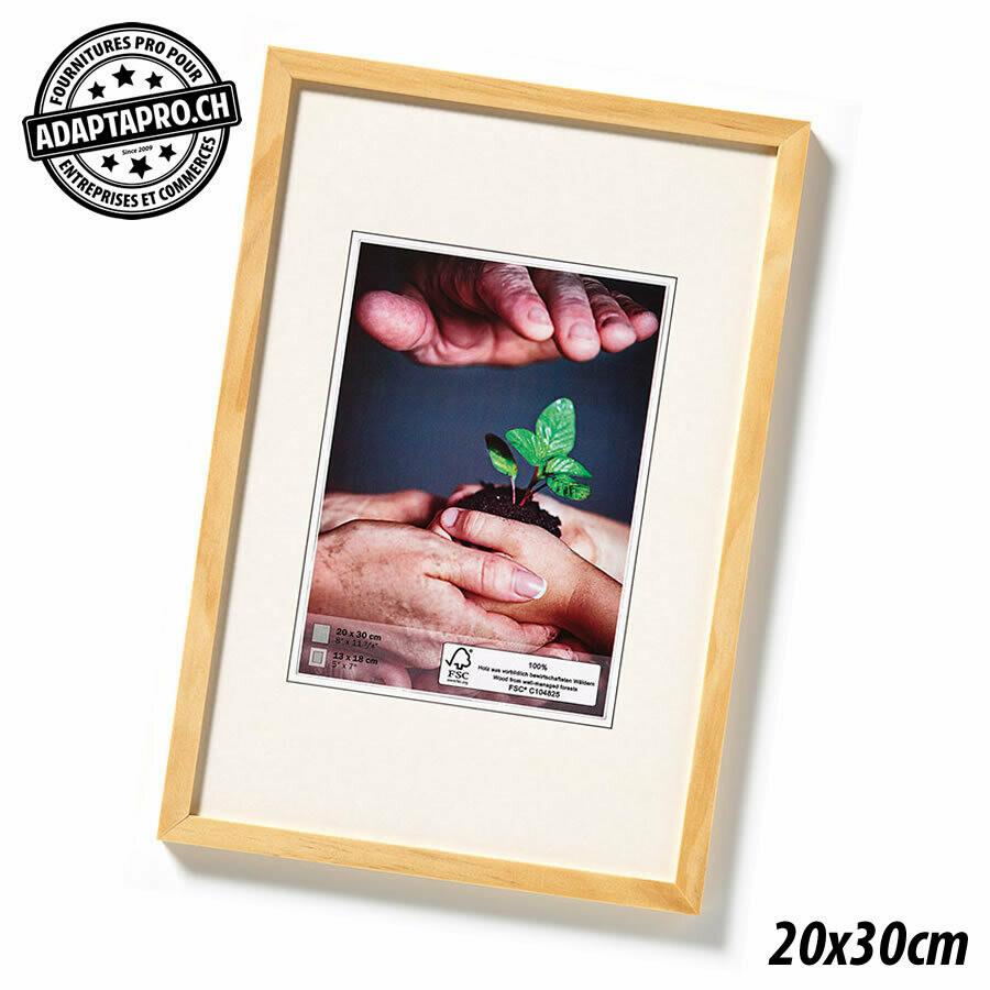 Cadre Photo en Bois - Nature - 20x30cm - Naturel