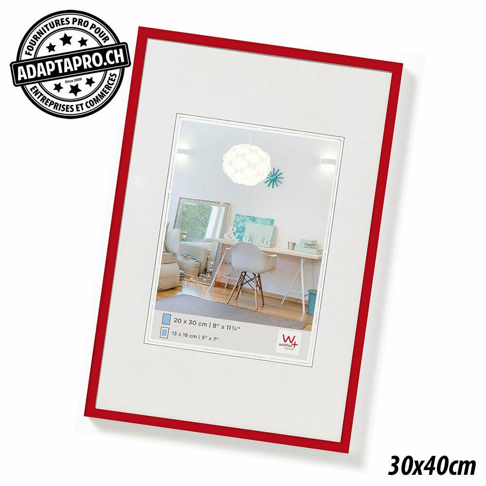 Cadre Photo Plastique - LifeStyle - 30x40cm - Rouge