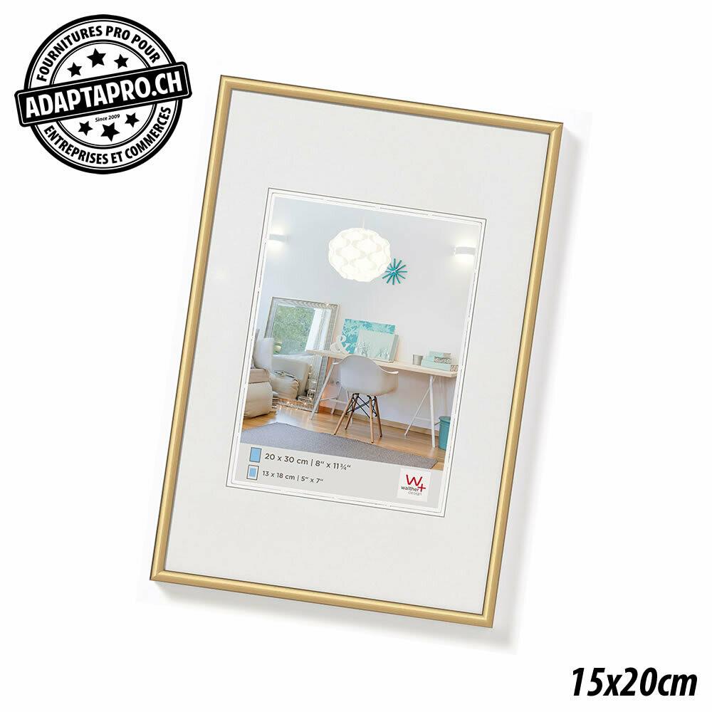 Cadre Photo Plastique - LifeStyle - 15x20cm - Doré