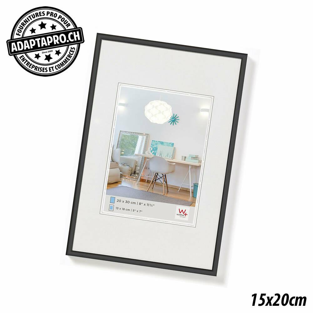 Cadre Photo Plastique - LifeStyle - 15x20cm - Noir