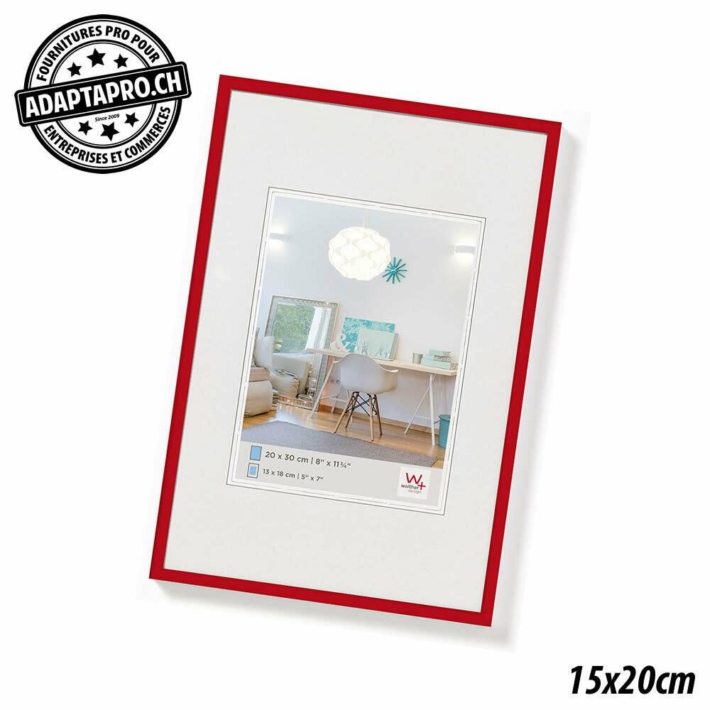 Cadre Photo Plastique - LifeStyle - 15x20cm - Rouge