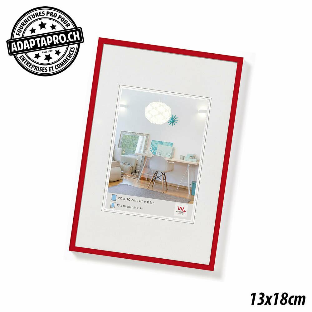 Cadre Photo Plastique - LifeStyle - 13x18cm - Rouge