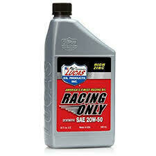 HIGH PERFORMANCE RACING ONLY MOTOR OIL Synthetic SAE 20W-50 10615 10616
