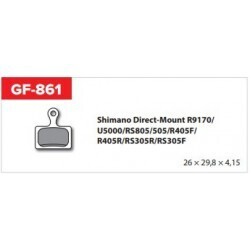 Pastiglia freno sinterizzata GF-861 Shimano Direct-Mount