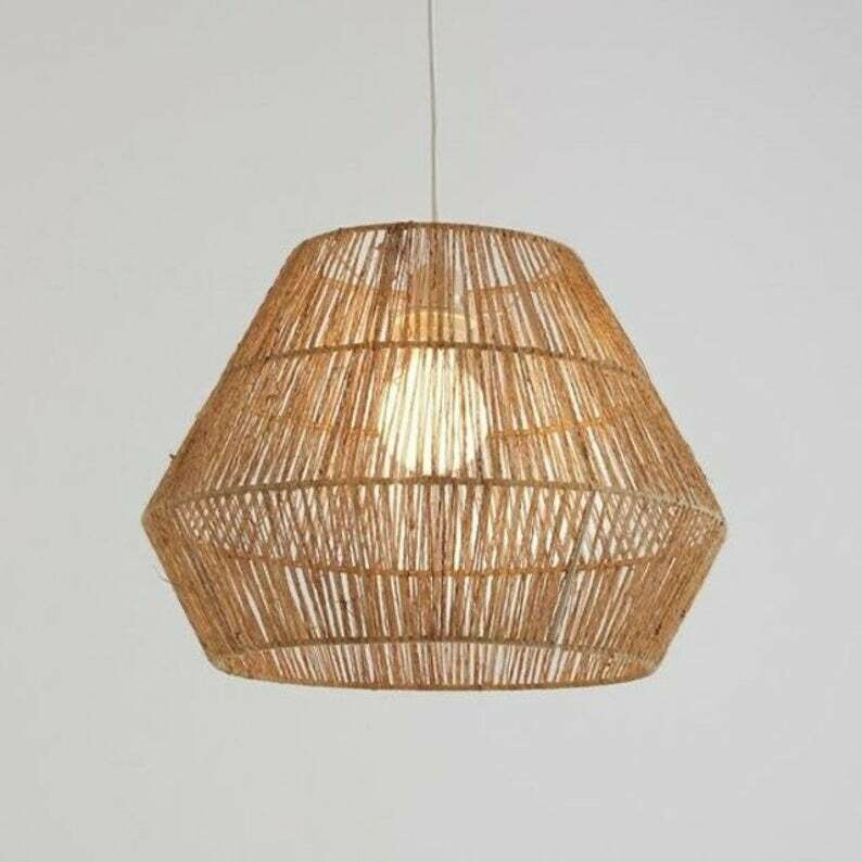 Jute Stick lampshade light pendant