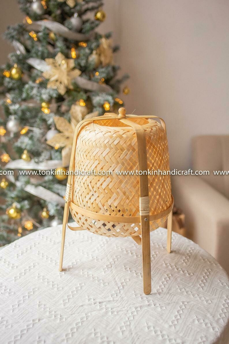 Maii Bamboo Rattan lamp bedroom bedside lamp