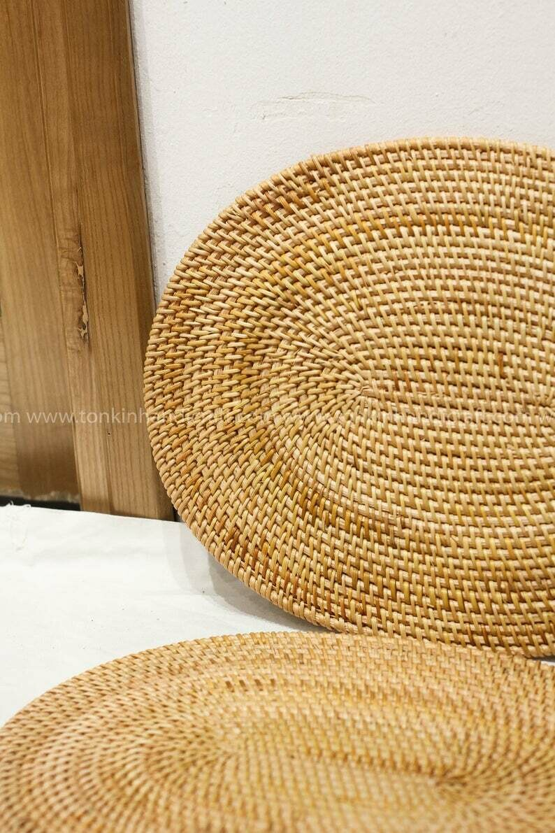 Oval Rattan Handmade Placemat