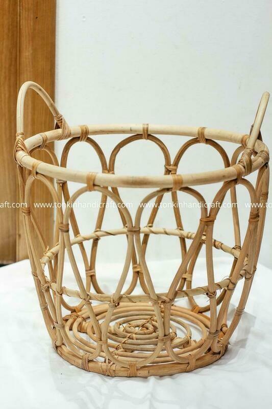 Rattan Bamboo Basket with handle