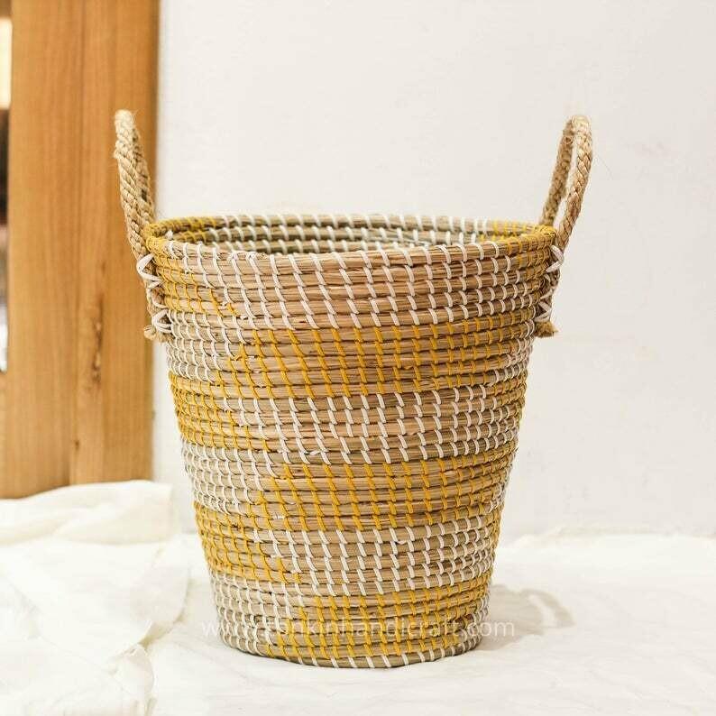 Handwoven small planter pot Basket handmade