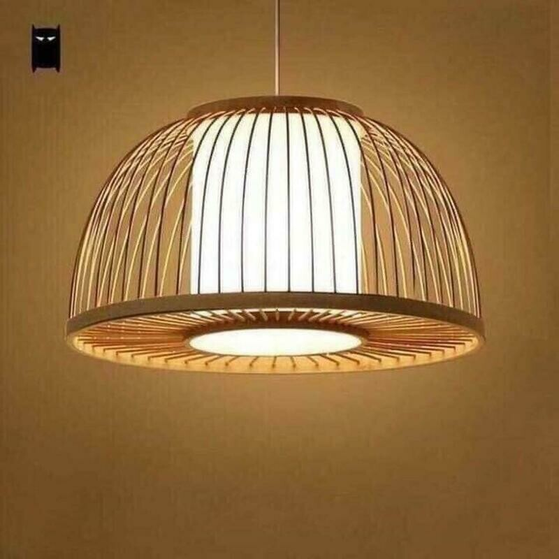 Leo Bamboo Rattan Stick lampshade light pendant