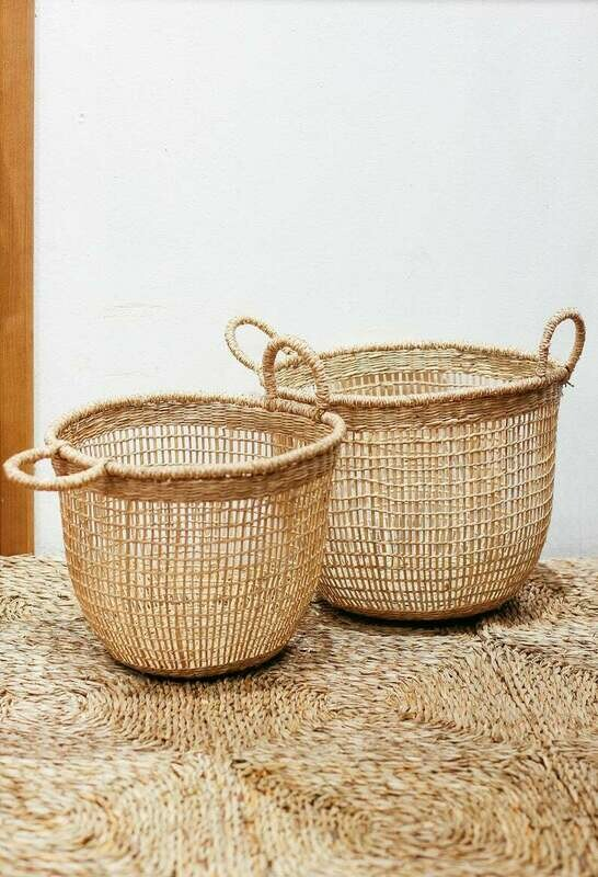 Set of 2 floppy Seagrass Baskets