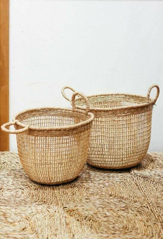 Set of 2 floppy Seagrass Baskets