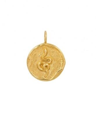 TAJ CHINESE ZODIAC SNAKE GOLD PLATED