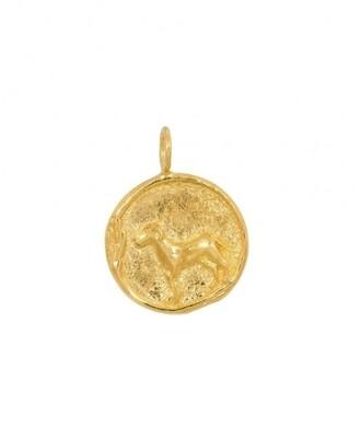 TAJ CHINESE ZODIAC DOG GOLD PLATED