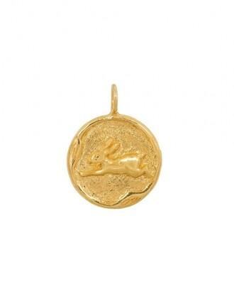 TAJ CHINESE ZODIAC RABBIT GOLD PLATED