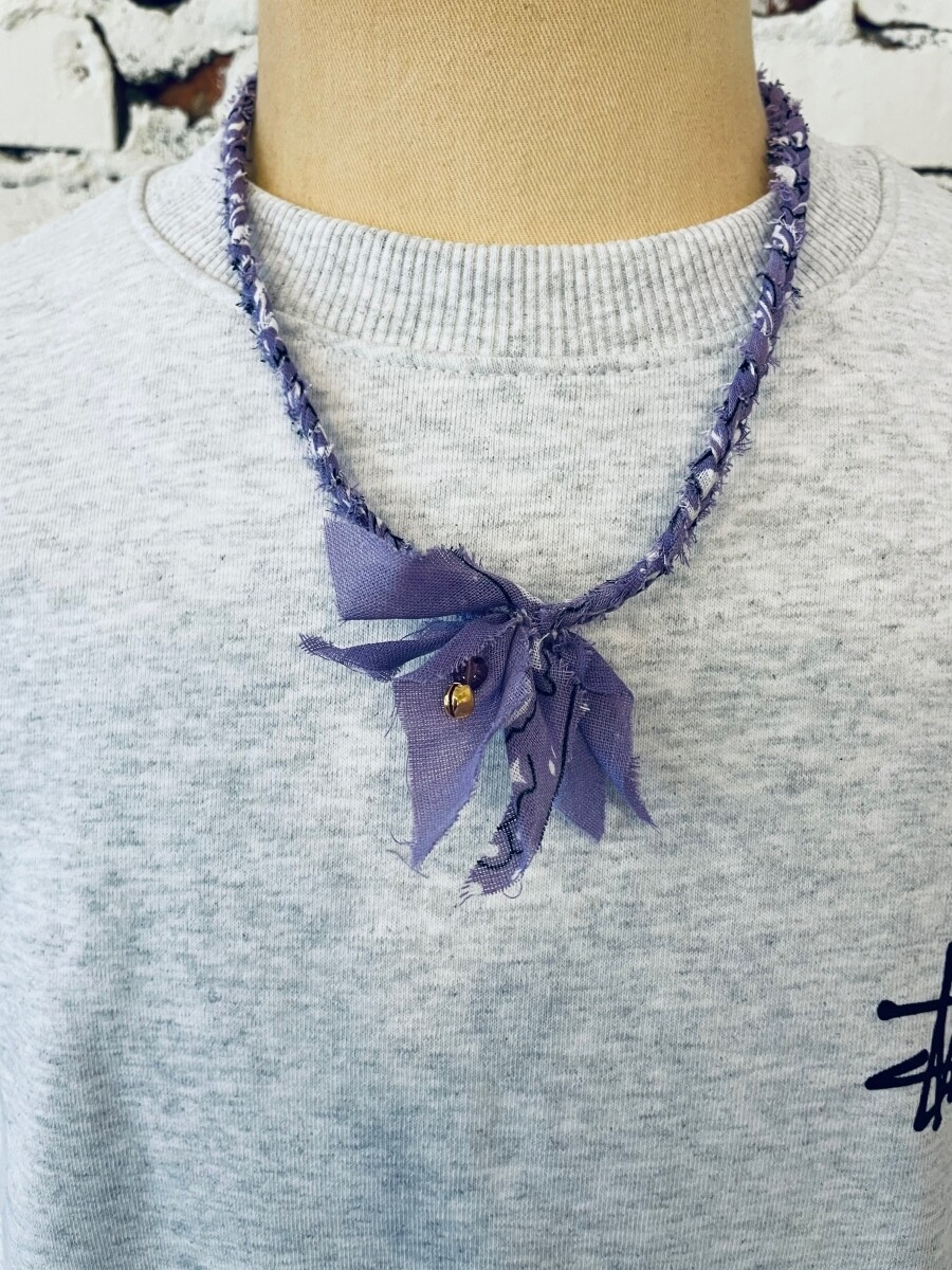 Saturdays & Sundays vintage necklace unisex - Purple
