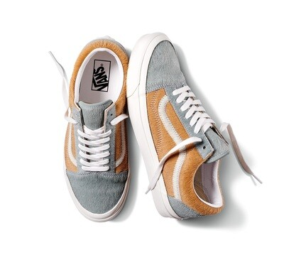 VANS ANAHEIM FACTORY OLD SKOOL 36 DX - Gray Pony/True White