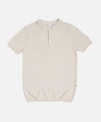 Law of the Sea - Ganvie knitted polo creme