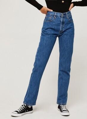 Levi's 501 high waist crop jeans
