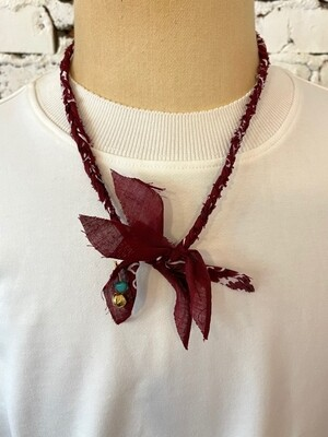 Saturdays & Sundays vintage necklace unisex - Bordeaux