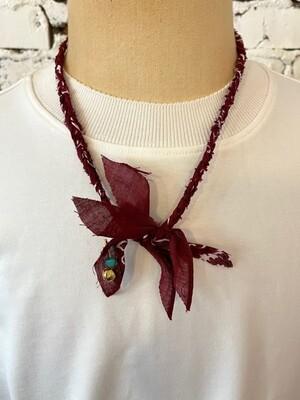 Saturdays & Sundays vintage necklace unisex - Bordeaux