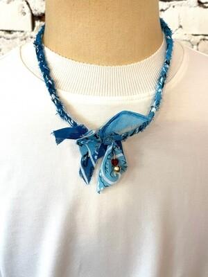 Saturdays & Sundays vintage necklace unisex - Blue Mix