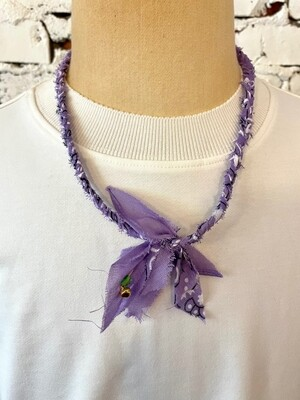 Saturdays & Sundays vintage necklace unisex - Lavendel