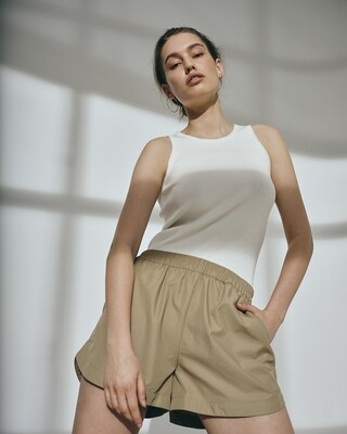 Norr Flora Knit Top - White