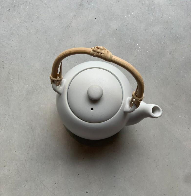Japanese teapot white
