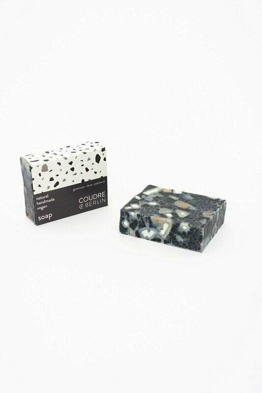 Natural vegan soap charcoal