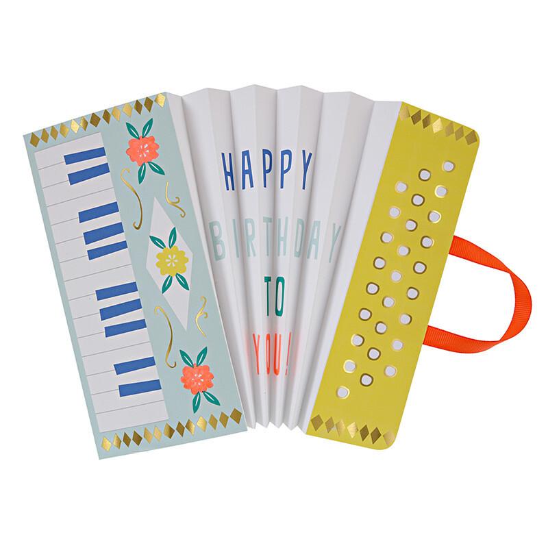 Card: Birthday Acordeon