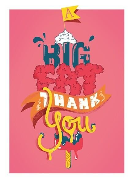 Card: big fat thank you