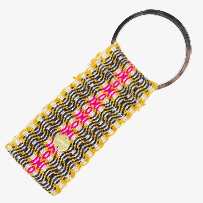 Schlüsselanhänger gelb-schwarz