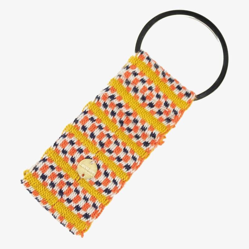 Schlüsselanhänger gelb-orange