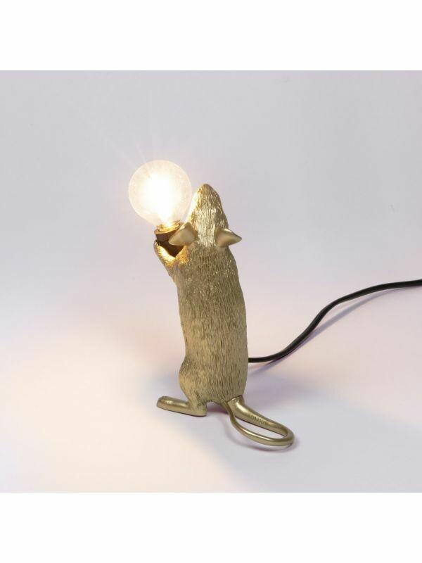 Tischleuchte Maus - gold