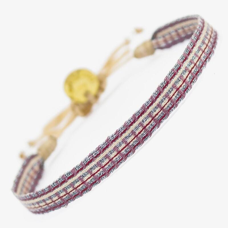 bracelet purple & silver