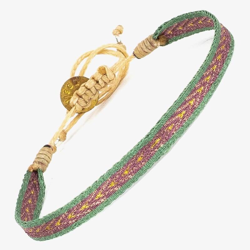 bracelet mint green & orange
