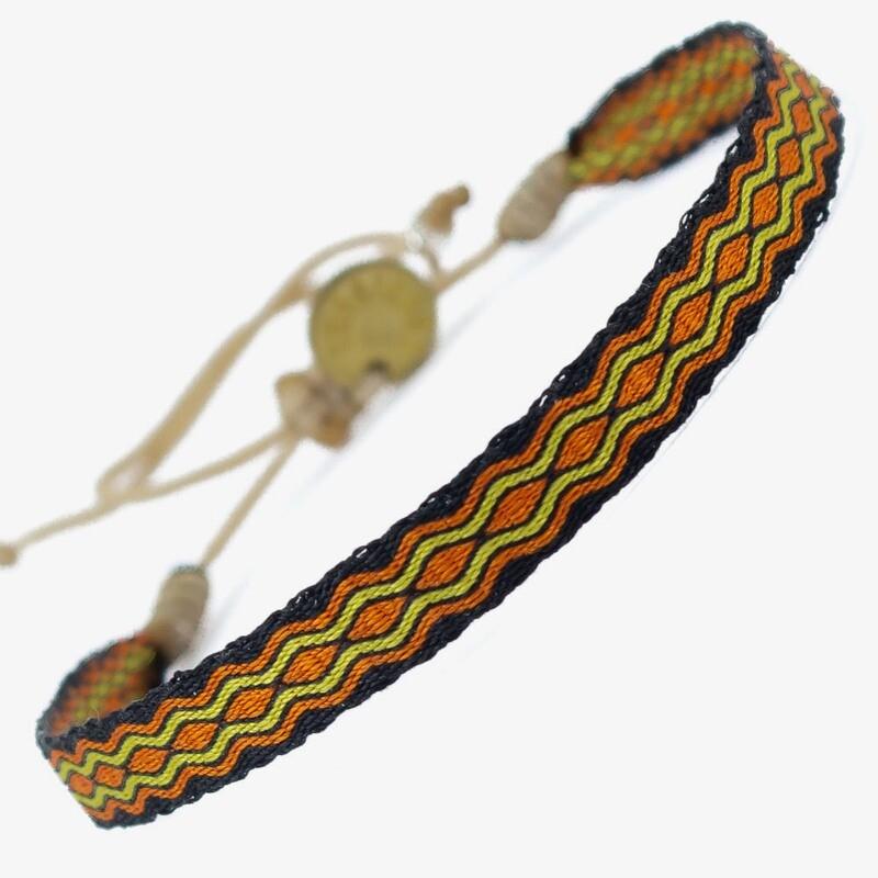 bracelet orange & green