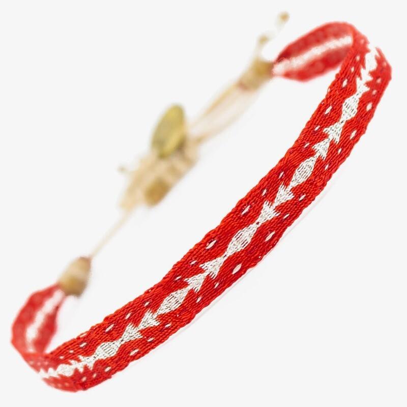 bracelet red & silver